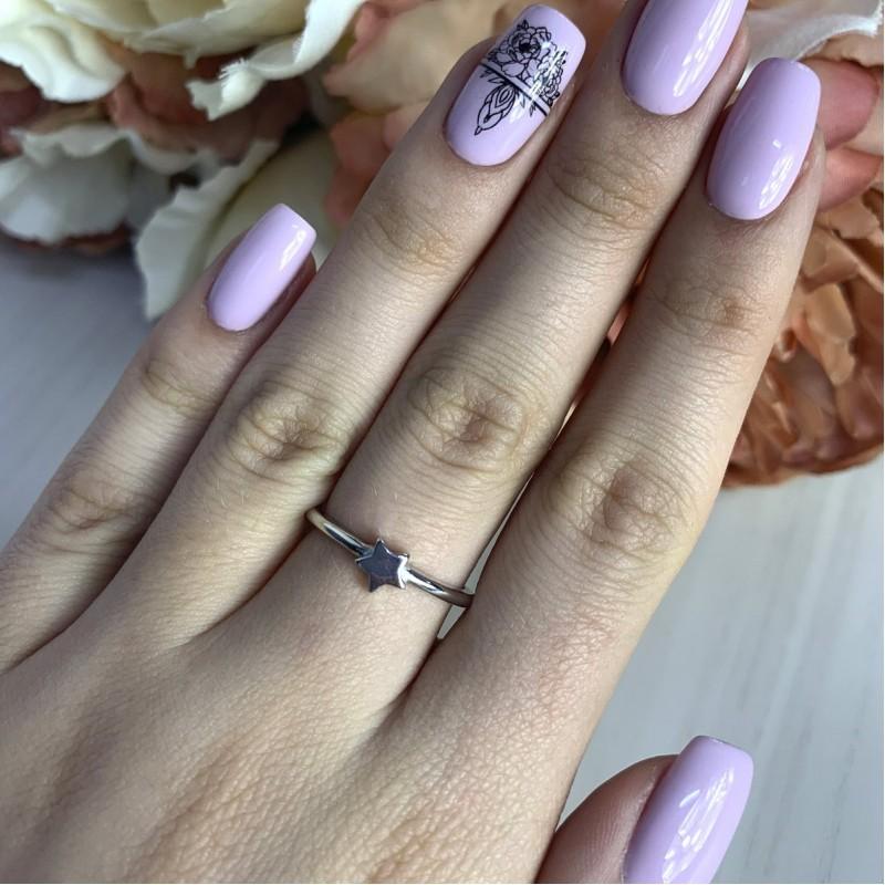 Серебряное кольцо SilverBreeze без камней (2002116) 17.5 размер