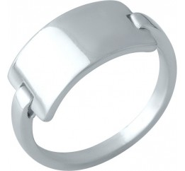 Серебряное кольцо SilverBreeze без камней (2000242) 17 размер