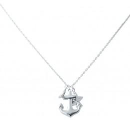 Серебряное колье SilverBreeze без камней (2031208) 450 размер