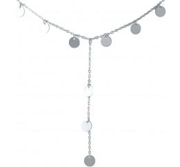 Серебряное колье SilverBreeze без камней (2014300) 450 размер