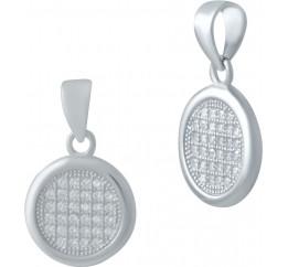 Серебряная подвеска SilverBreeze с фианитами (2036821)
