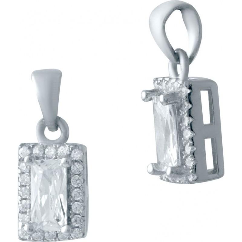 Серебряная подвеска SilverBreeze с фианитами (2035596)