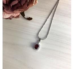 Серебряная подвеска SilverBreeze с рубином (2027690)