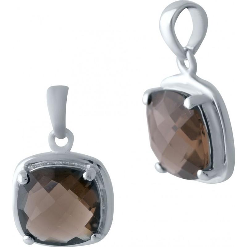 Серебряная подвеска SilverBreeze с раухтопазом (димчатим кварцем) (2025337)
