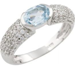 Серебряное кольцо SilverBreeze с натуральным топазом (0462028) 18 размер