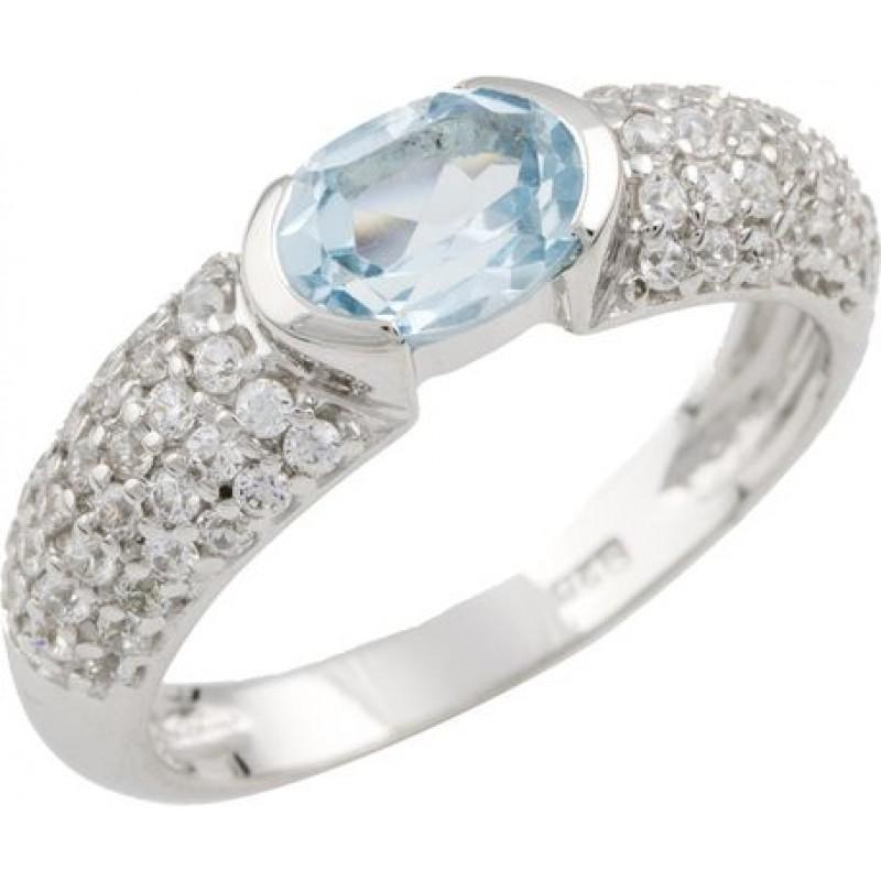 Серебряное кольцо SilverBreeze с натуральным топазом (0462028) 17 размер