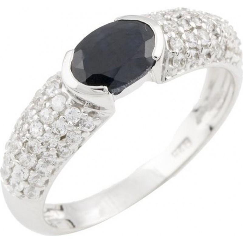 Серебряное кольцо SilverBreeze с натуральным сапфиром (0467825) 17.5 размер