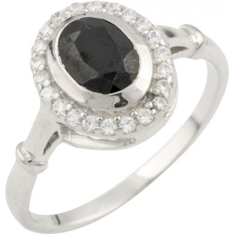 Серебряное кольцо SilverBreeze с натуральным сапфиром (0468518) 18 размер
