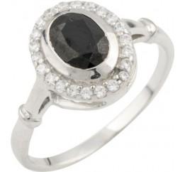 Серебряное кольцо SilverBreeze с натуральным сапфиром (0468518) 17 размер