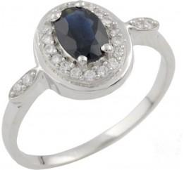 Серебряное кольцо SilverBreeze с натуральным сапфиром (0468617) 16.5 размер