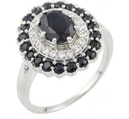 Серебряное кольцо SilverBreeze с натуральным сапфиром (0468839) 18.5 размер