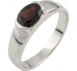 Серебряное кольцо SilverBreeze с натуральным гранатом (0478043) 17.5 размер