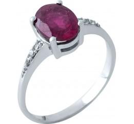 Серебряное кольцо SilverBreeze с натуральным рубином (0503158) 17.5 размер