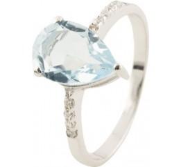 Серебряное кольцо SilverBreeze с натуральным топазом (0513607) 17.5 размер