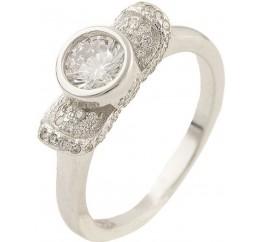 Серебряное кольцо SilverBreeze с фианитами (0534435) 16 размер