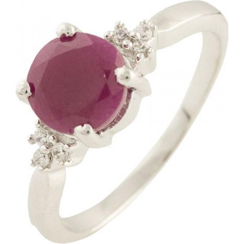 Серебряное кольцо SilverBreeze с натуральным рубином (0564272) 17 размер