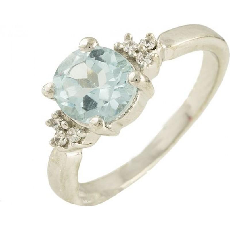 Серебряное кольцо SilverBreeze с натуральным топазом (0580104) 18 размер