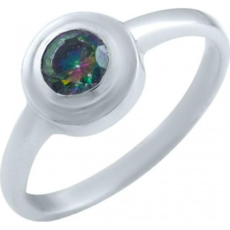 Серебряное кольцо SilverBreeze с натуральным мистик топазом (0869117) 17.5 размер