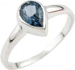 Серебряное кольцо SilverBreeze с натуральным топазом Лондон Блю (1073599) 16.5 размер