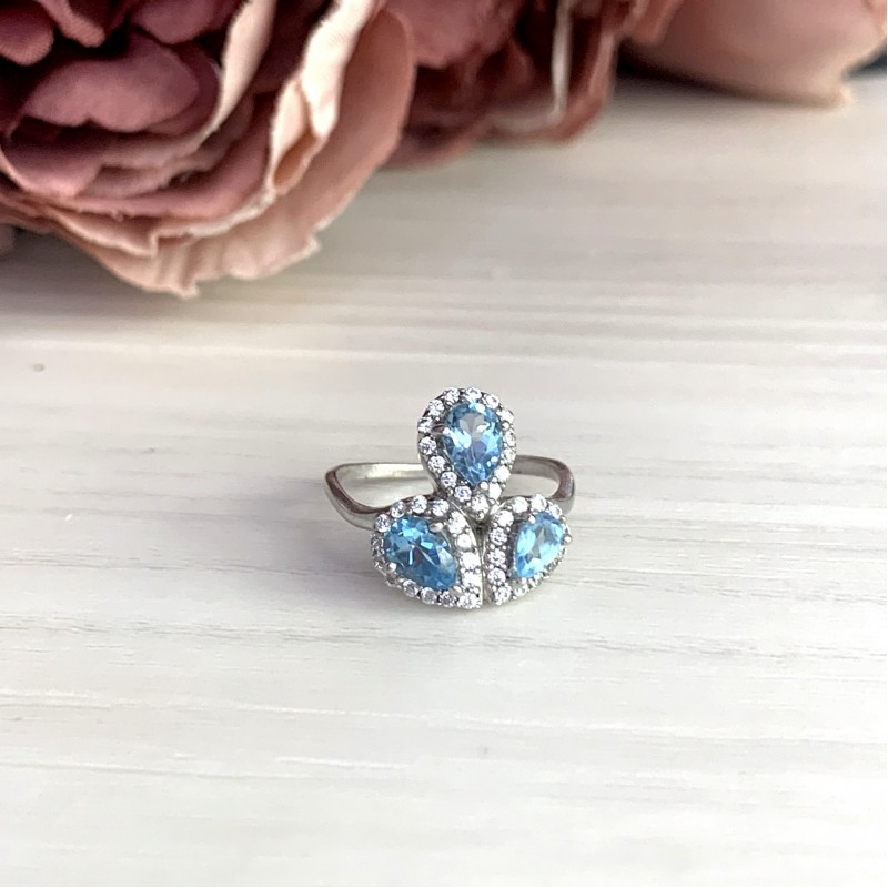 Серебряное кольцо SilverBreeze с  (1078013) 17.5 размер