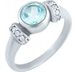 Серебряное кольцо SilverBreeze с натуральным топазом (1078440) 16.5 размер