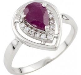 Серебряное кольцо SilverBreeze с натуральным рубином (1087794) 17 размер