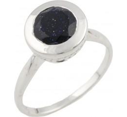 Серебряное кольцо SilverBreeze с натуральным авантюрином (1091838) 16.5 размер
