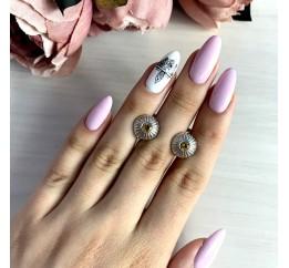 Серебряные серьги SilverBreeze с натуральным цитрином (1139479)