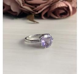 Серебряное кольцо SilverBreeze с натуральным аметистом (1141069) 17.5 размер
