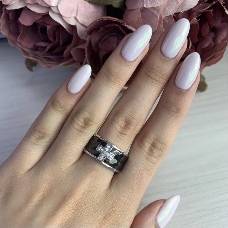 Серебряное кольцо SilverBreeze с керамикой (1150306) 16 размер