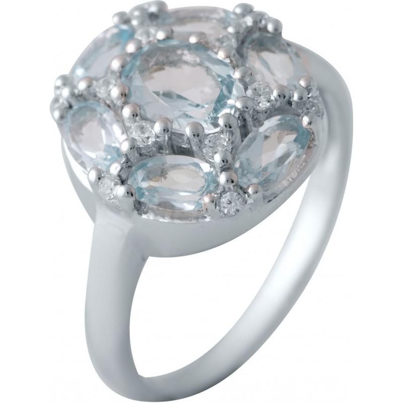 Серебряное кольцо SilverBreeze с натуральным топазом (1183687) 17.5 размер