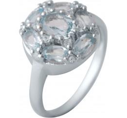 Серебряное кольцо SilverBreeze с натуральным топазом (1183687) 17 размер