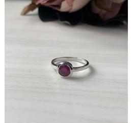 Серебряное кольцо SilverBreeze с натуральным рубином (1192436) 16.5 размер
