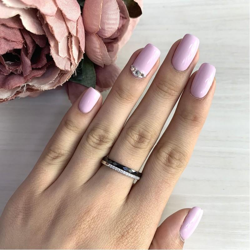 Серебряное кольцо SilverBreeze с керамикой (1213636) 19 размер