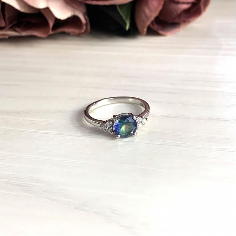Серебряное кольцо SilverBreeze с натуральным мистик топазом (1247280) 16.5 размер