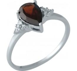 Серебряное кольцо SilverBreeze с натуральным гранатом (1317877) 17.5 размер