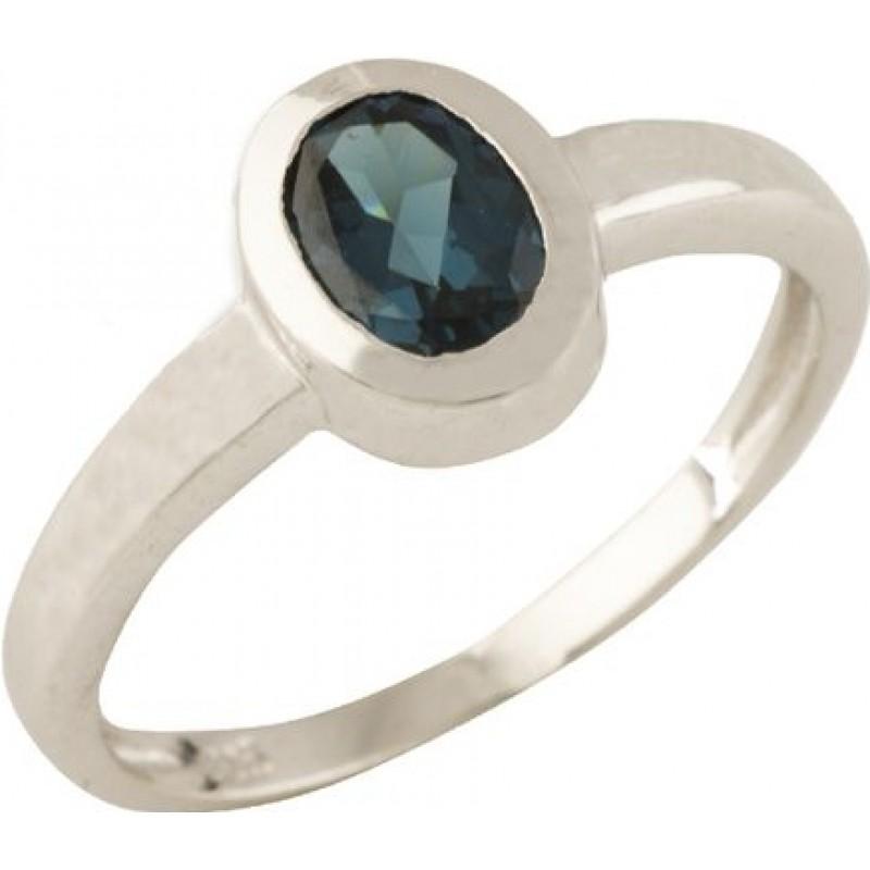 Серебряное кольцо SilverBreeze с натуральным топазом Лондон Блю (1320235) 18 размер