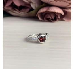 Серебряное кольцо SilverBreeze с натуральным гранатом (1451687) 16.5 размер