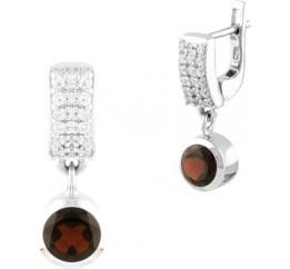 Серебряные серьги SilverBreeze с натуральным гранатом (1451694)