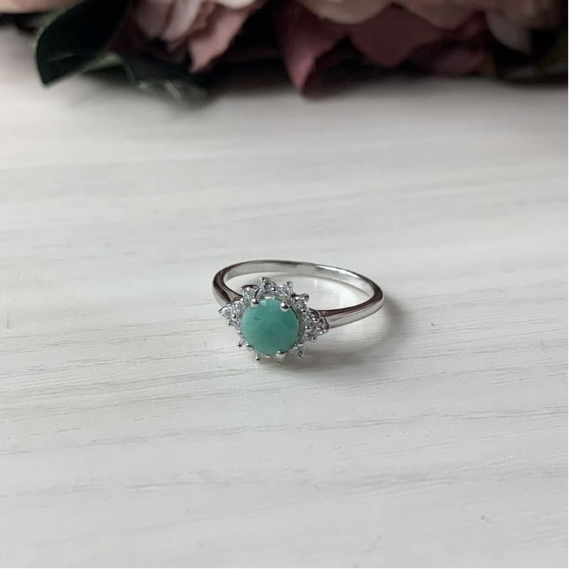 Серебряное кольцо SilverBreeze с натуральным изумрудом (1452066) 16.5 размер