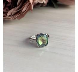 Серебряное кольцо SilverBreeze с натуральным мистик топазом (1456477) 18 размер
