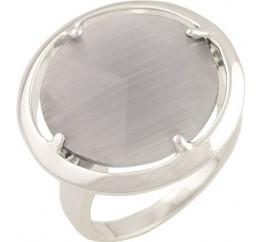 Серебряное кольцо SilverBreeze с кошачим глазом (1463840) 17.5 размер