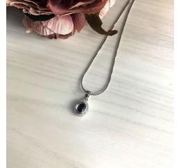 Серебряная подвеска SilverBreeze с сапфиром (1633014)