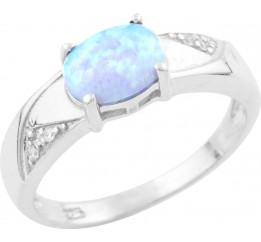 Серебряное кольцо SilverBreeze с опалом (1633526) 17 размер