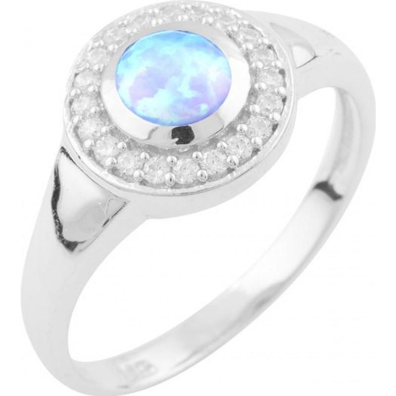 Серебряное кольцо SilverBreeze с опалом (1633571) 17.5 размер