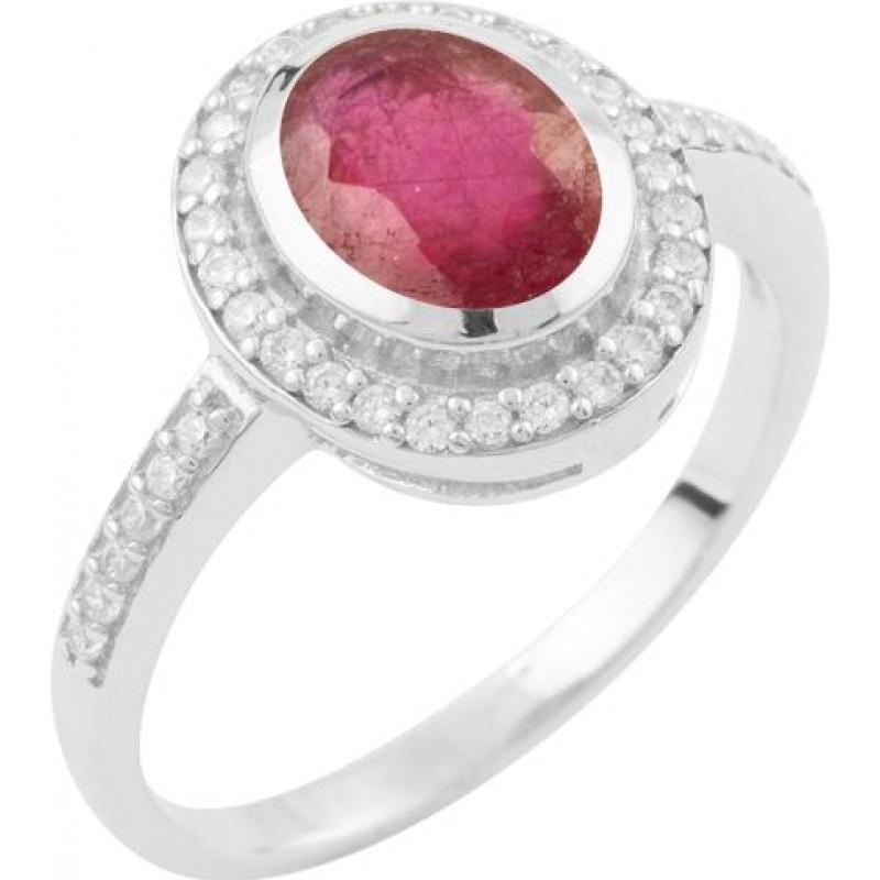 Серебряное кольцо SilverBreeze с натуральным рубином (1634202) 18 размер