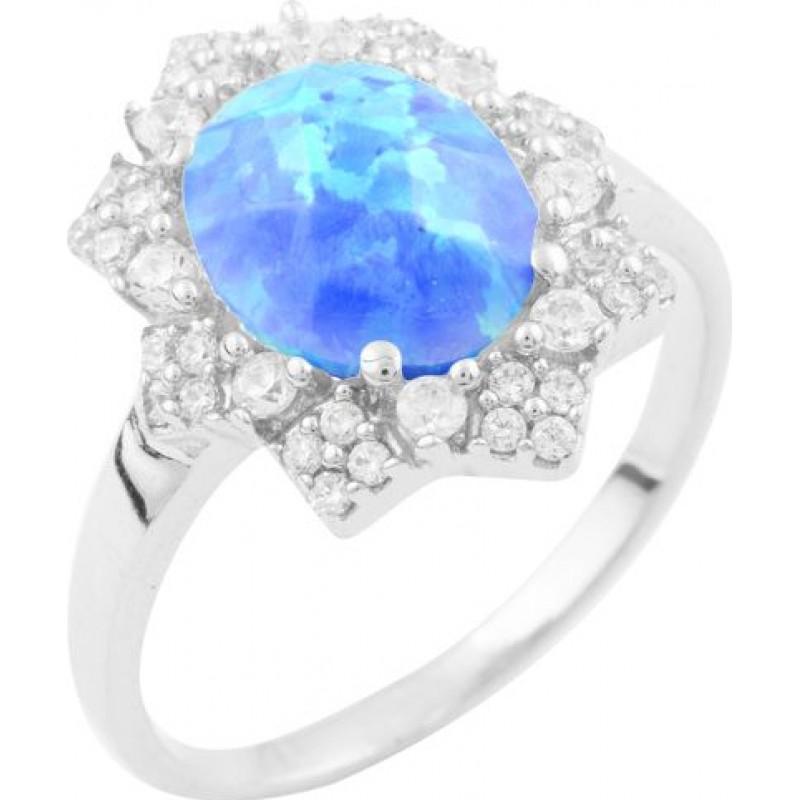 Серебряное кольцо SilverBreeze с опалом (1634325) 18 размер