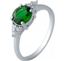 Серебряное кольцо SilverBreeze с изумрудом nano (1634578) 17.5 размер