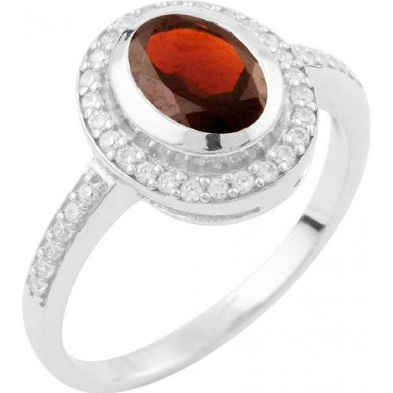 Серебряное кольцо SilverBreeze с натуральным гранатом (1634738) 17 размер
