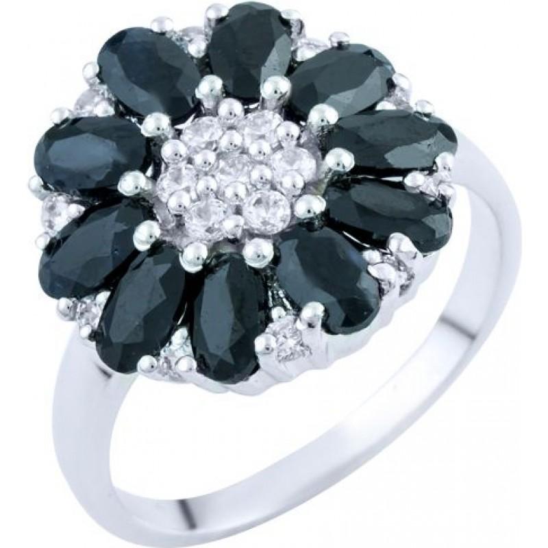 Серебряное кольцо SilverBreeze с натуральным сапфиром (1762882) 18.5 размер